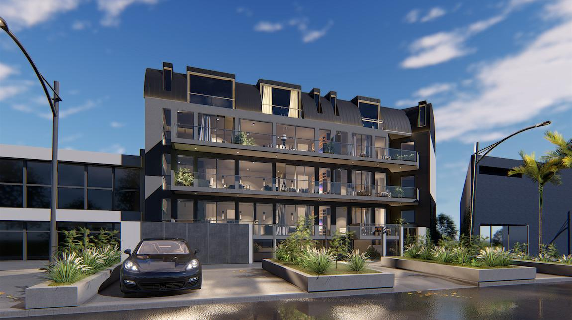 Exclusivo edificio de 4 plantas, 8 unidades de vivienda en Victoria, Punta Chica-1