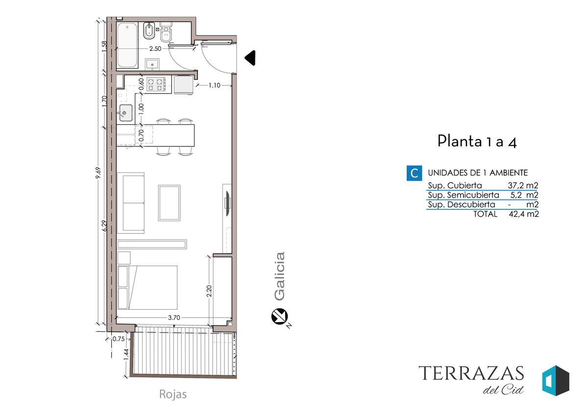 Foto Edificio en Villa Crespo GALICIA 606 número 9