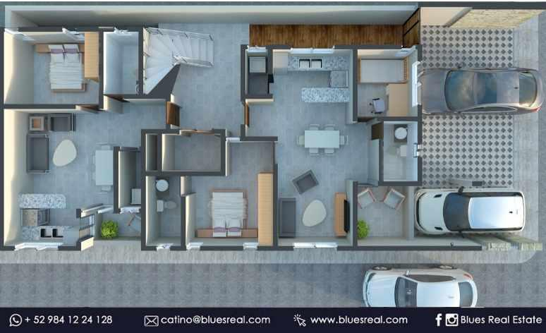Unit picture Apartment in Sale in  Solidaridad ,  Quintana Roo  For sale apartments in Joshua Condos in Playa del Carmen | Blues Real | Code 670