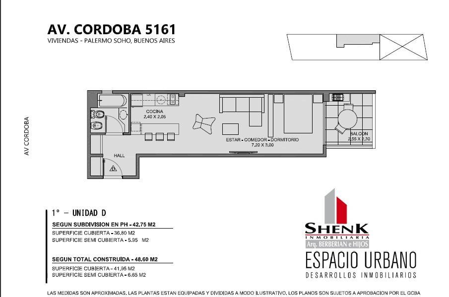 Foto Edificio en Palermo CORDOBA 5100 número 10