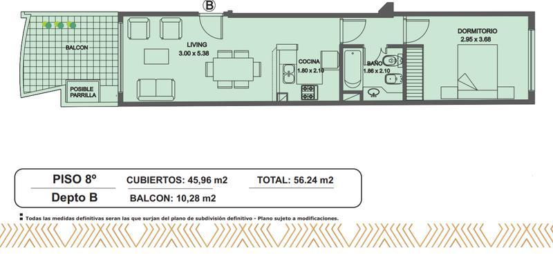 Foto Edificio en Caballito Norte Bogotá 220 número 10