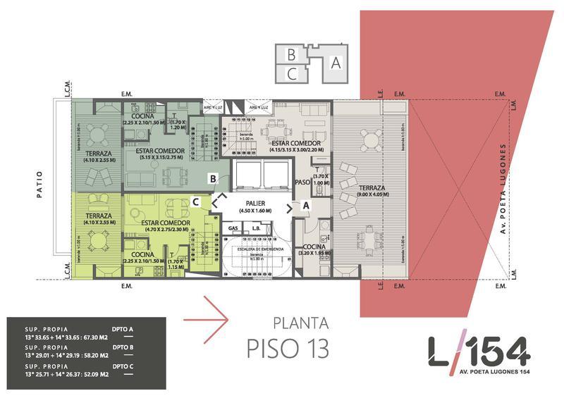 Foto Edificio en Nueva Cordoba Av. Poeta Lugones 154- L154 número 13