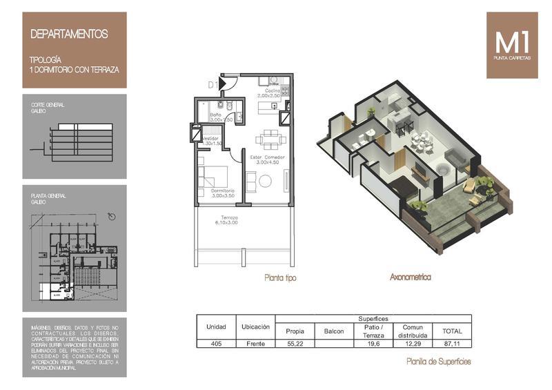 Foto Edificio en Punta Carretas MONTEVIDEO UNO | Ariosto & F. García Cortinas   número 18