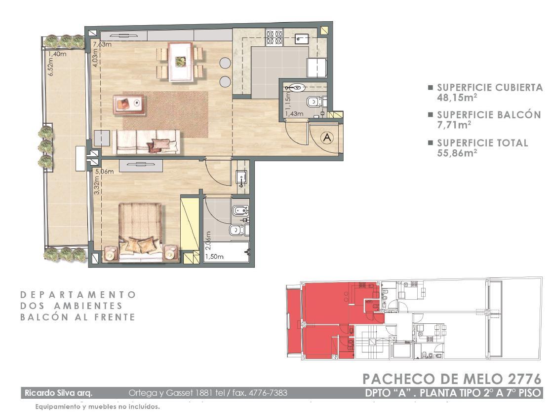 Exir Departamento En Venta En Recoleta Pacheco De Melo 2700 # Muebles Pacheco