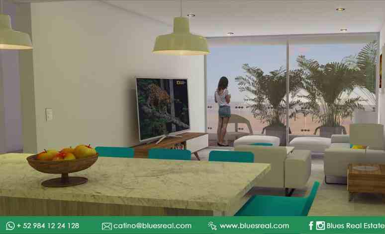 Unit picture Apartment in Sale in  Playa del Carmen,  Solidaridad  For sale new apartments in Solea | Blues Real | Code 451