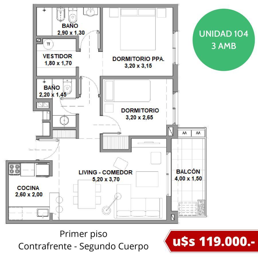 Departamentos con cochera fija en Tigre - Excelente ubicación - Fideicomiso al costo en pesos-15