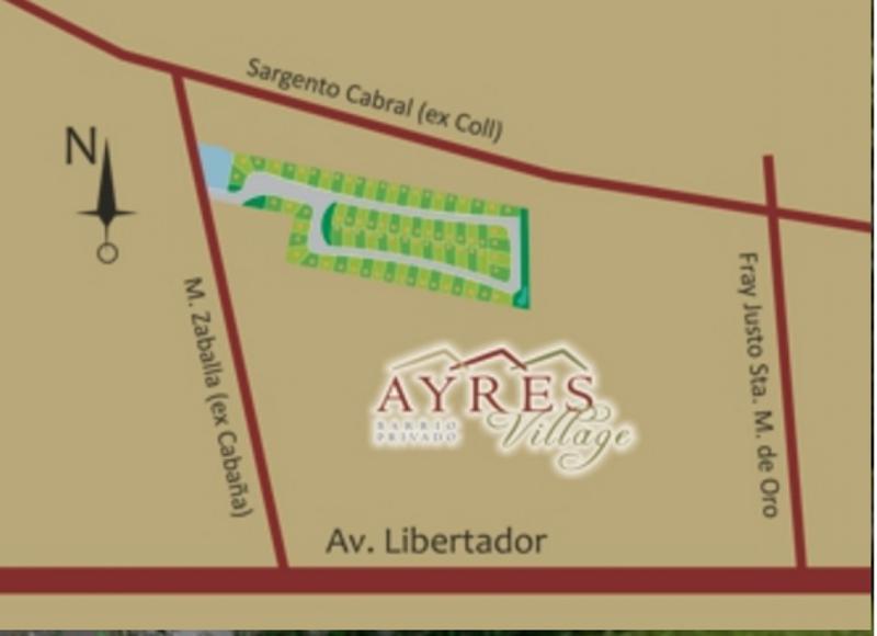 Foto unidad Terreno en Venta en  Ayres Village,  Rivadavia   Ayres Village - Manuel Zaballa s/n (calle Cabaña) casi S. Cabral (Calle Coll)