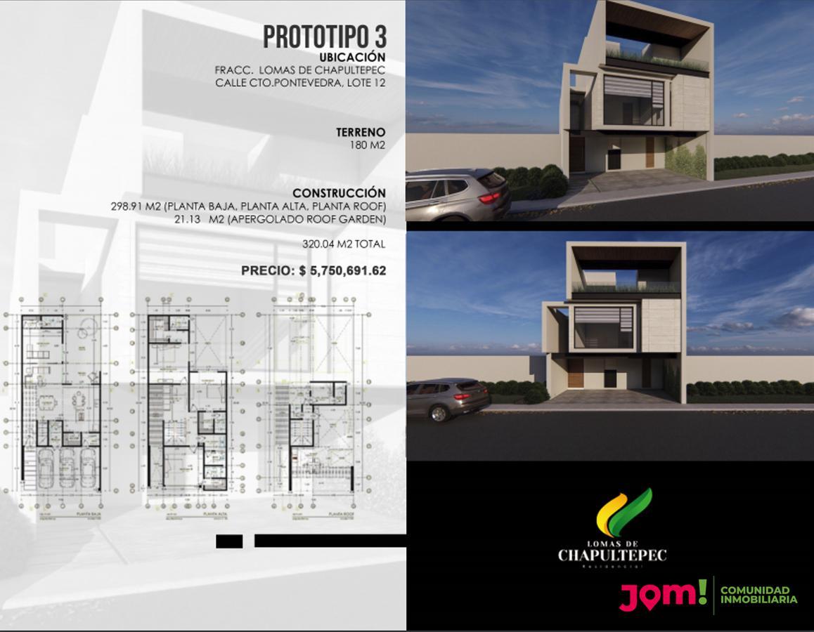 Foto Casa en Venta en  Lomas,  San Luis Potosí  Fracc. Lomas de Chapultepec, Calle Cto Pontevedra, LOTE 14, Prototipo 1