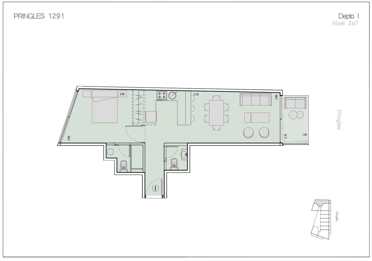 Emprendimiento Pringles 1283 en Villa Crespo