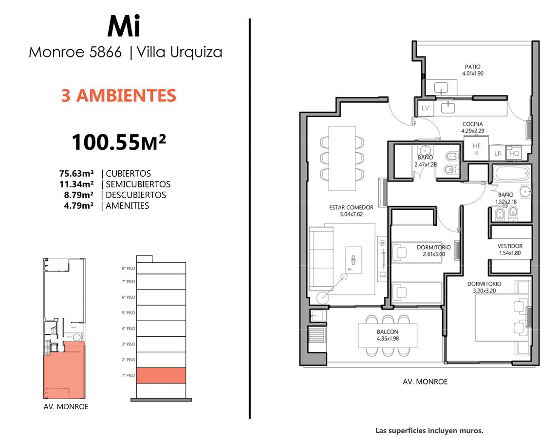 Emprendimiento Monroe al 5800 en Villa Urquiza
