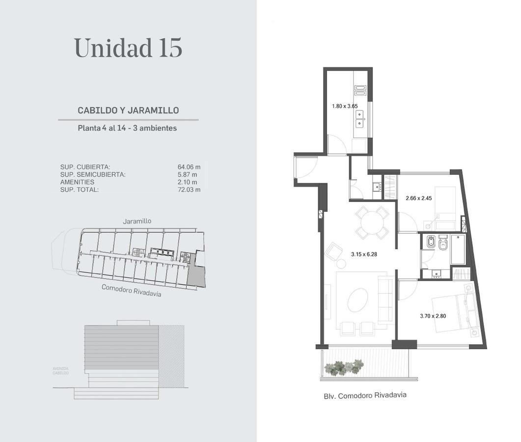 Emprendimiento HUB Cabildo y Jaramillo en Nuñez
