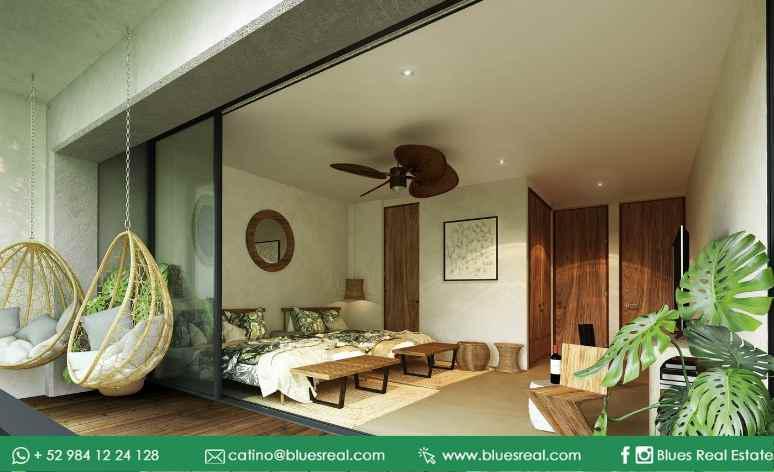 Unit picture Apartment in Sale in  Tulum ,  Quintana Roo  NEW Condos at Habaneros in Tulum | Blues Real | Code 647