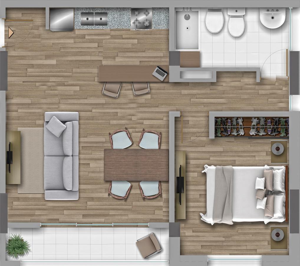 Foto Departamento en Venta en  Santa Fe,  La Capital  Dpto. 1 dormitorio - Portofino - CAM