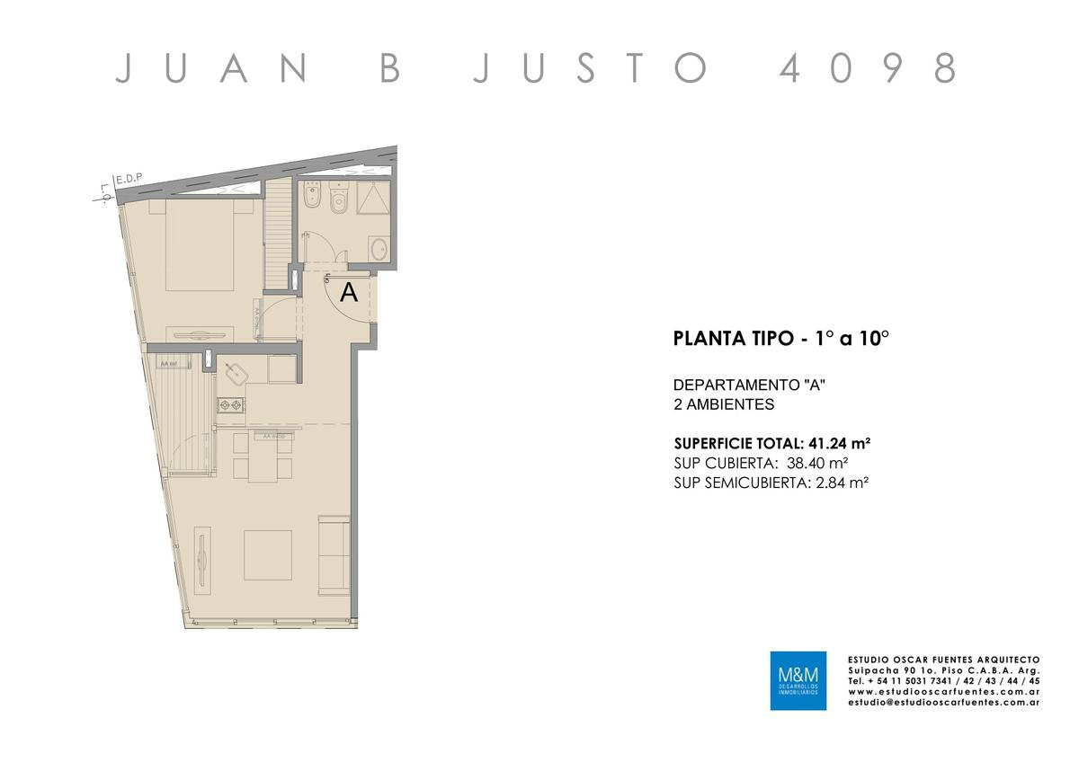 Foto Edificio en Caballito Juan B Justo 4098 número 16