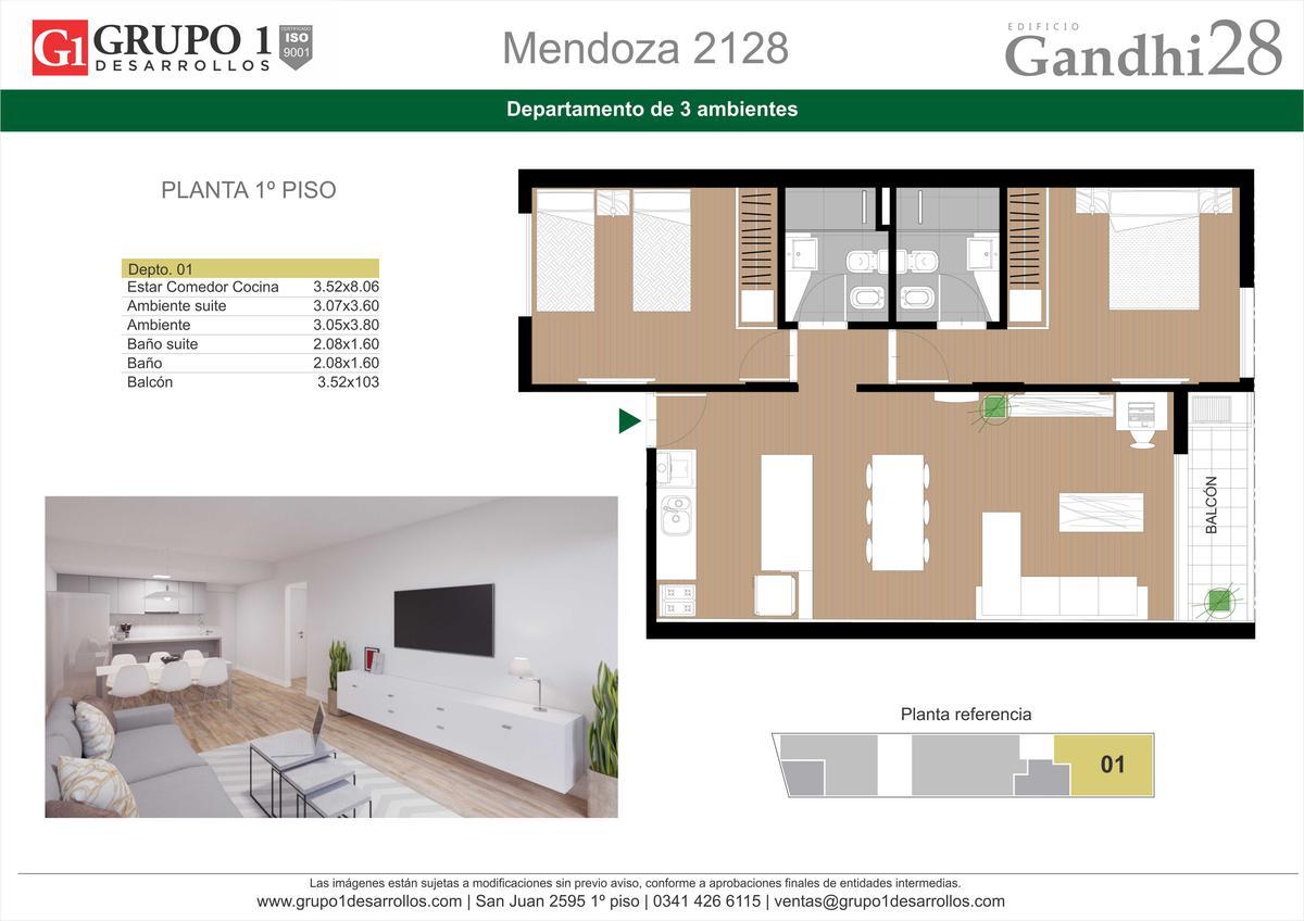 Foto Edificio en Centro Oeste MENDOZA 2128 número 3