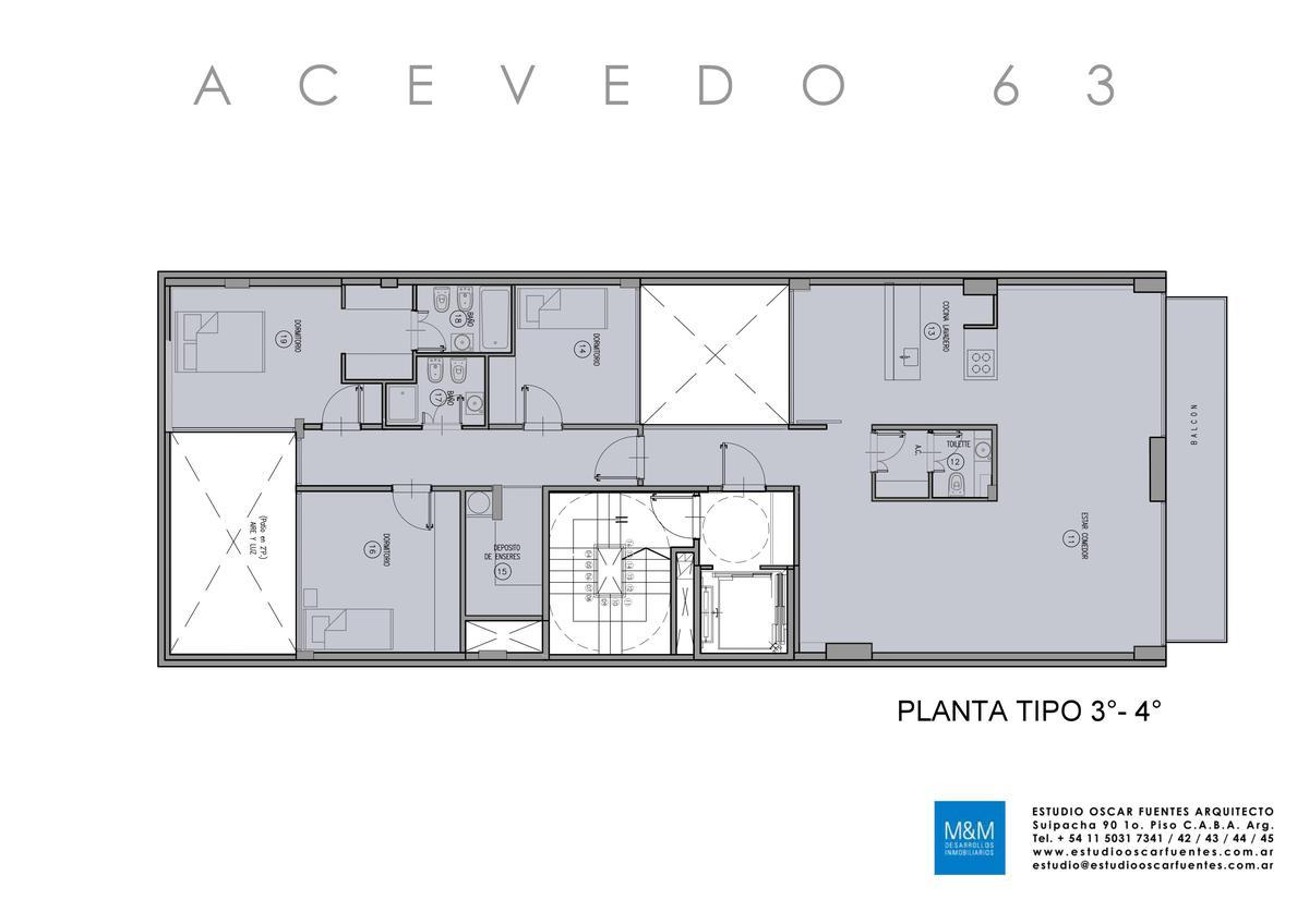 Foto Edificio en Caballito Eduardo Acevedo 63 número 14