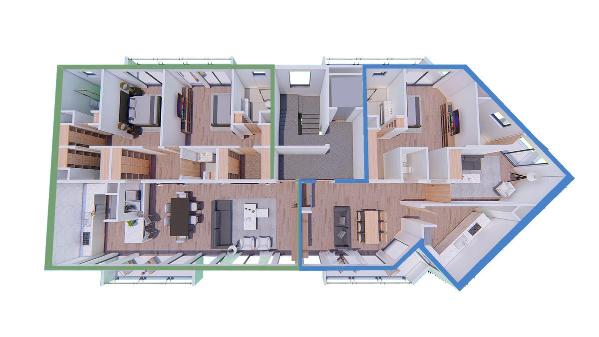 Exclusivo edificio de 4 plantas, 8 unidades de vivienda en Victoria, Punta Chica-4