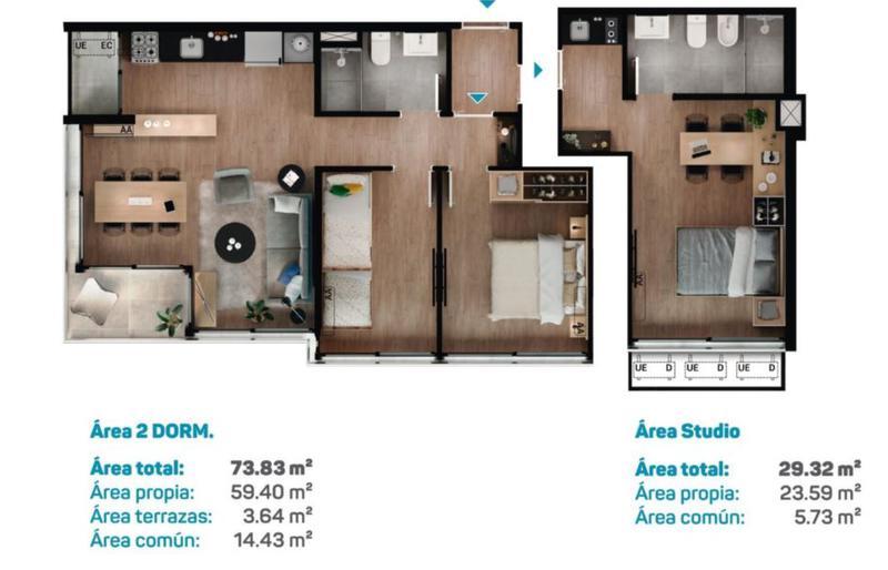 Foto Edificio en Malvín Apartamentos de 1 2 y 3 dormitorios en Malvin número 4