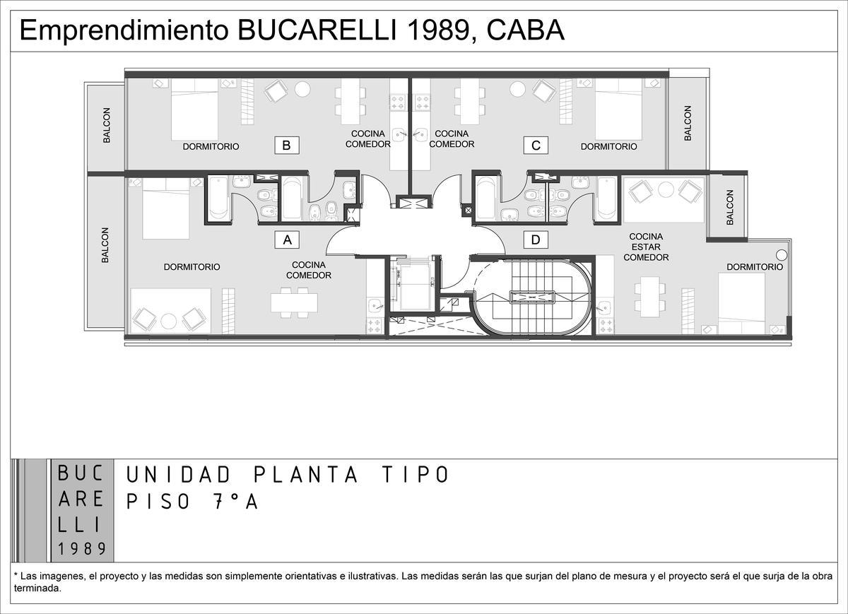 Foto Departamento en Venta en  Villa Urquiza ,  Capital Federal  BUCARELLI 1989 7A