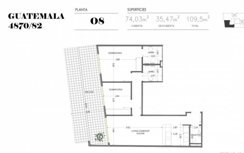 Foto Edificio en Palermo Soho GUATEMALA  4780 número 20