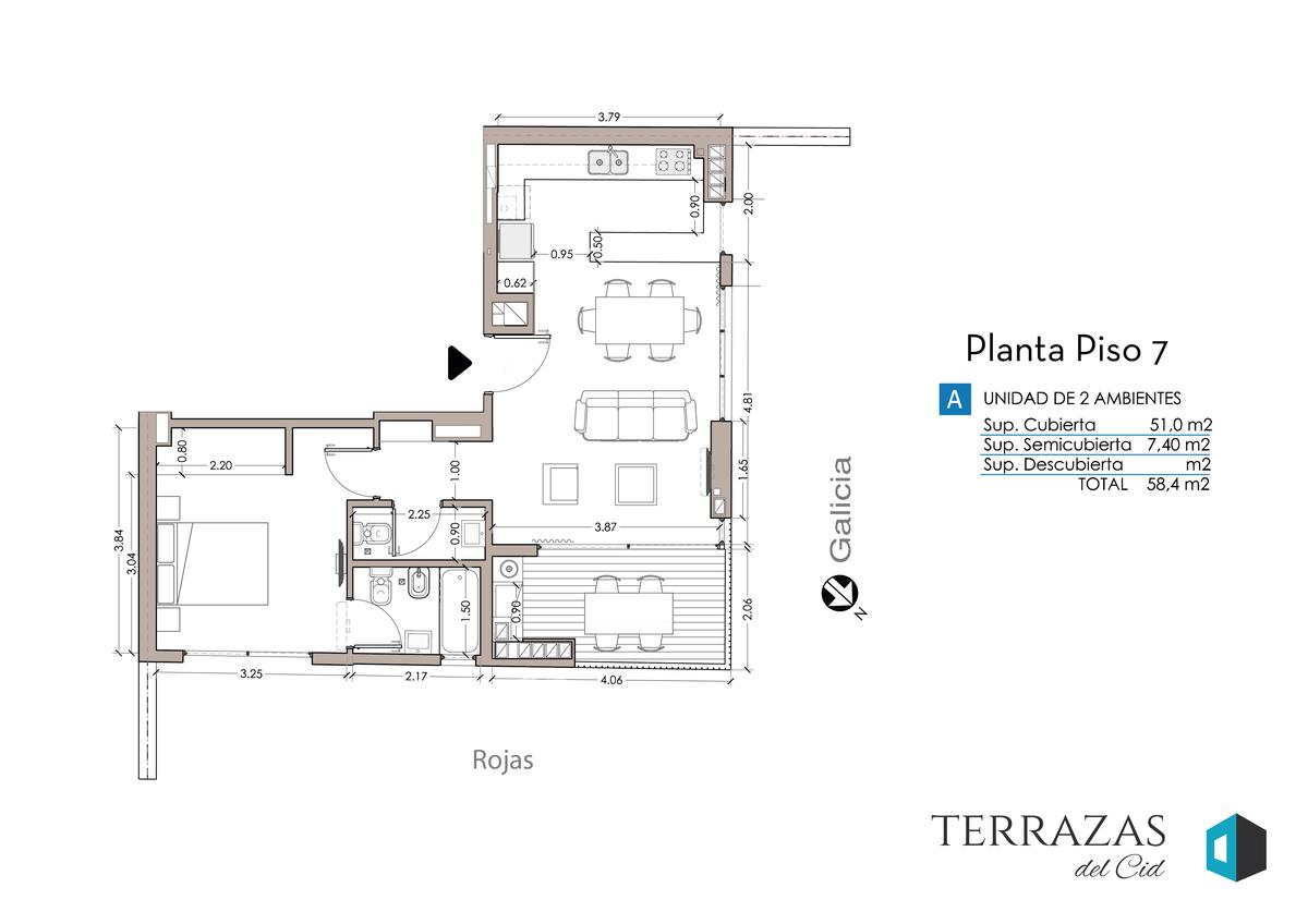 Foto Edificio en Villa Crespo GALICIA 606 número 17