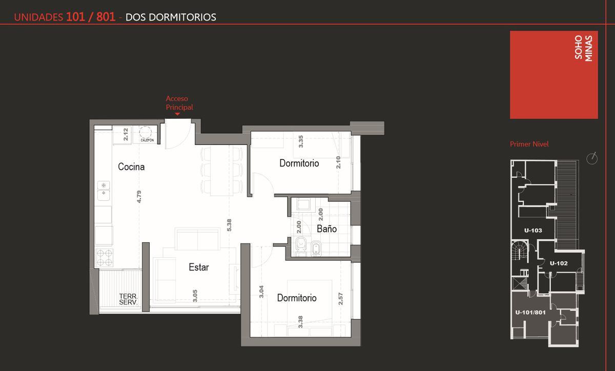 Foto Edificio en Cordón Apartamentos de 1 y 2 dormitorios SOHO Minas número 3