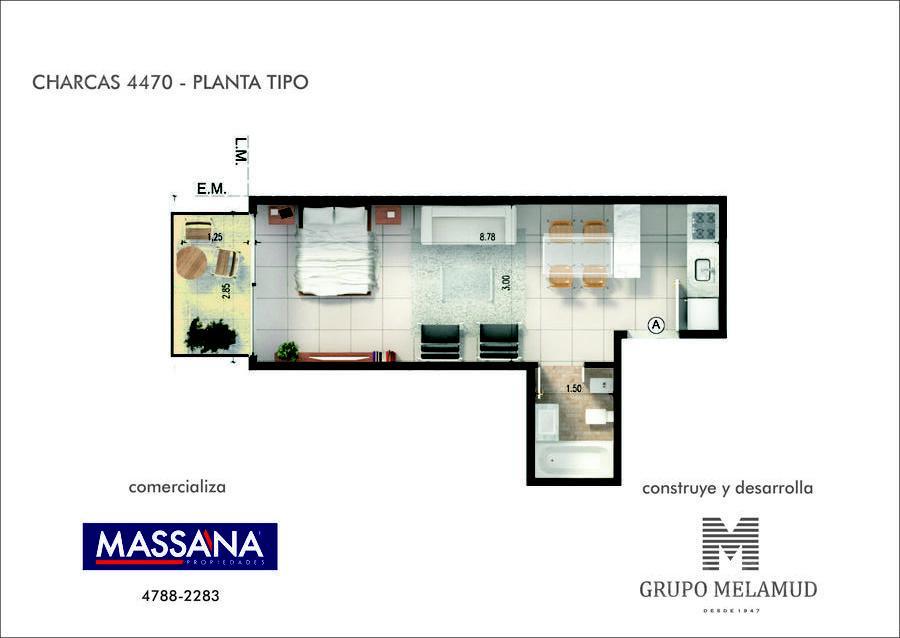 Foto Edificio en Palermo CHARCAS 4470 número 17