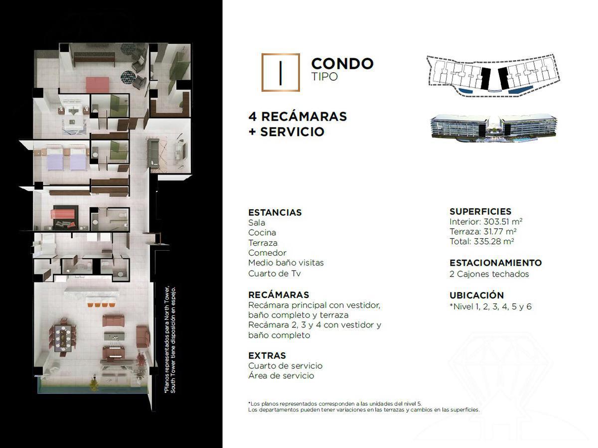 """Foto Edificio en Cancún Centro ALLURE Osean Front Luxury Condos """"Vive en la playa y en la ciudad""""  número 30"""