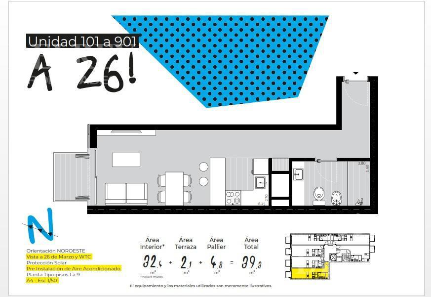 Foto Departamento en Venta en  Pocitos Nuevo ,  Montevideo  Benito Blanco y 26 de Marzo Aprox