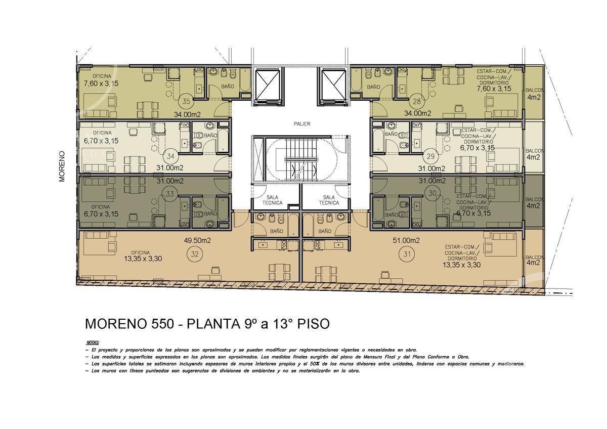 Foto Oficina en Venta en  Monserrat,  Centro (Capital Federal)  Moreno al 500 - 1 ambiente, piso intermedio frente.