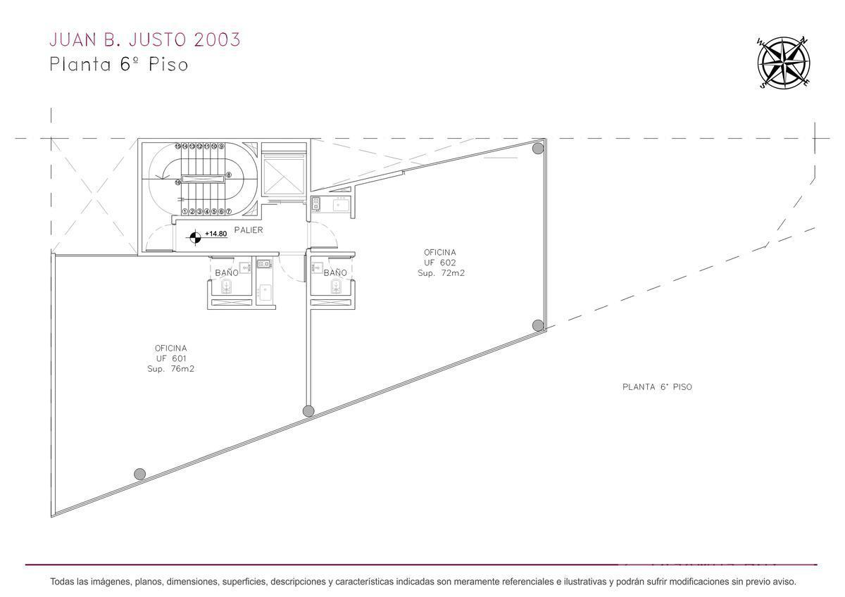 Foto Edificio de oficinas en Villa Crespo Juan B. Justo y Castillo numero 14