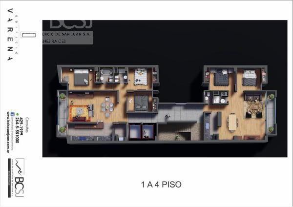Foto Edificio en Capital Edificio Varena - P. A. de Sarmiento antes de Av. Ignacio de la Roza número 18