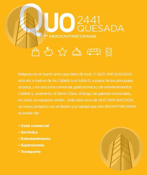 Foto Edificio en Belgrano Quo Quesada - Quesada 2400 - 1,2,3,4 Ambientes número 8