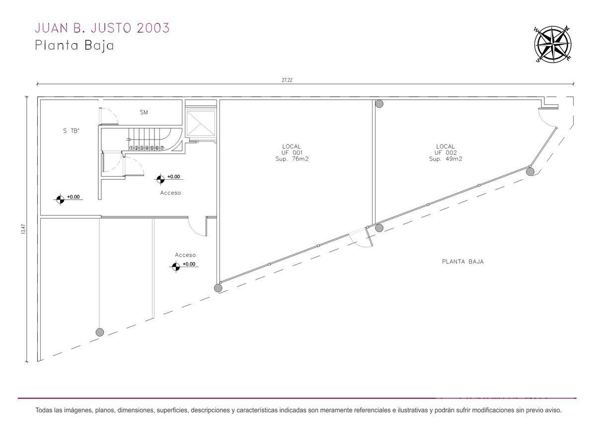 Foto Edificio de oficinas en Villa Crespo Juan B. Justo y Castillo numero 8