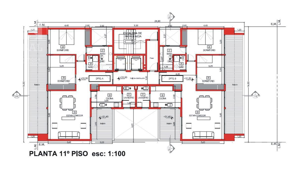Foto Edificio en Santa Genoveva  Islas Malvinas 800 número 16