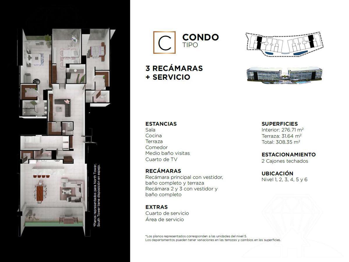 """Foto Edificio en Cancún Centro ALLURE Osean Front Luxury Condos """"Vive en la playa y en la ciudad""""  número 31"""