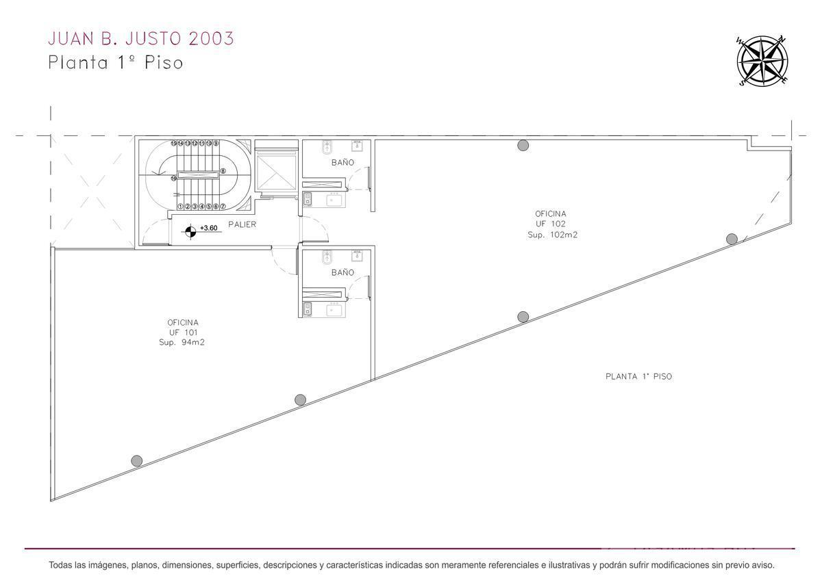 Foto Edificio de oficinas en Villa Crespo Juan B. Justo y Castillo numero 9