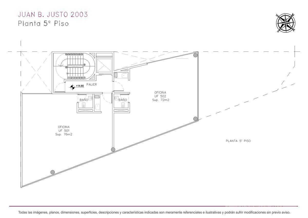 Foto Edificio de oficinas en Villa Crespo Juan B. Justo y Castillo numero 13