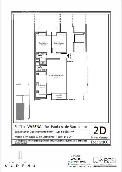 Foto Edificio en Capital Edificio Varena - P. A. de Sarmiento antes de Av. Ignacio de la Roza número 9