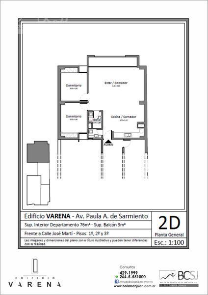 Foto Edificio en Capital Edificio Varena - P. A. de Sarmiento antes de Av. Ignacio de la Roza número 14
