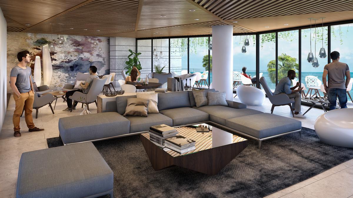 """Foto Edificio en Cancún Centro ALLURE Osean Front Luxury Condos """"Vive en la playa y en la ciudad""""  número 22"""