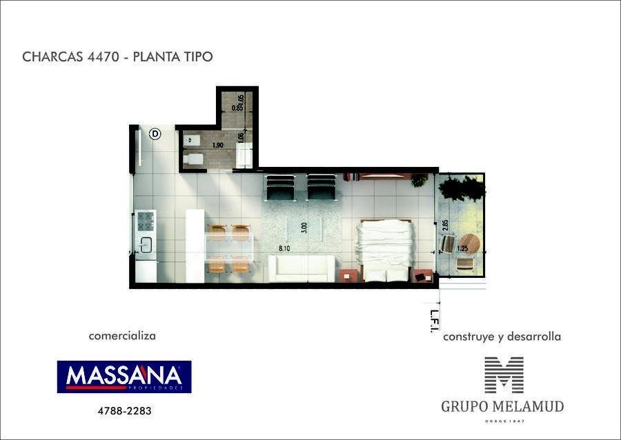 Foto Edificio en Palermo CHARCAS 4470 número 4