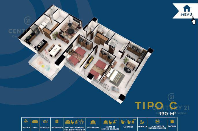 Foto Condominio en El Table EN VENTA DEPARTAMENTO EN CANCÚN C2683 número 9