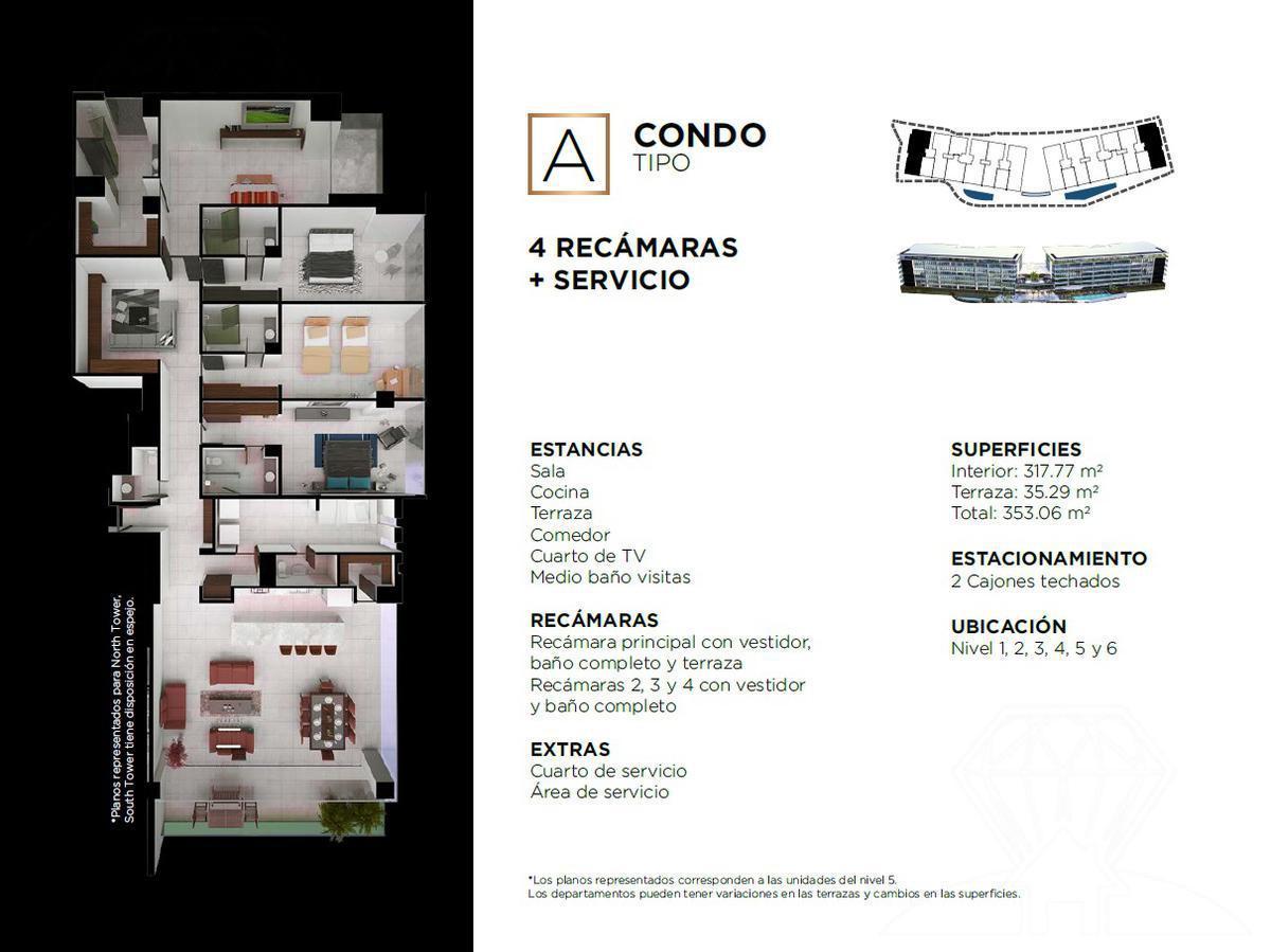 """Foto Edificio en Cancún Centro ALLURE Osean Front Luxury Condos """"Vive en la playa y en la ciudad""""  número 28"""