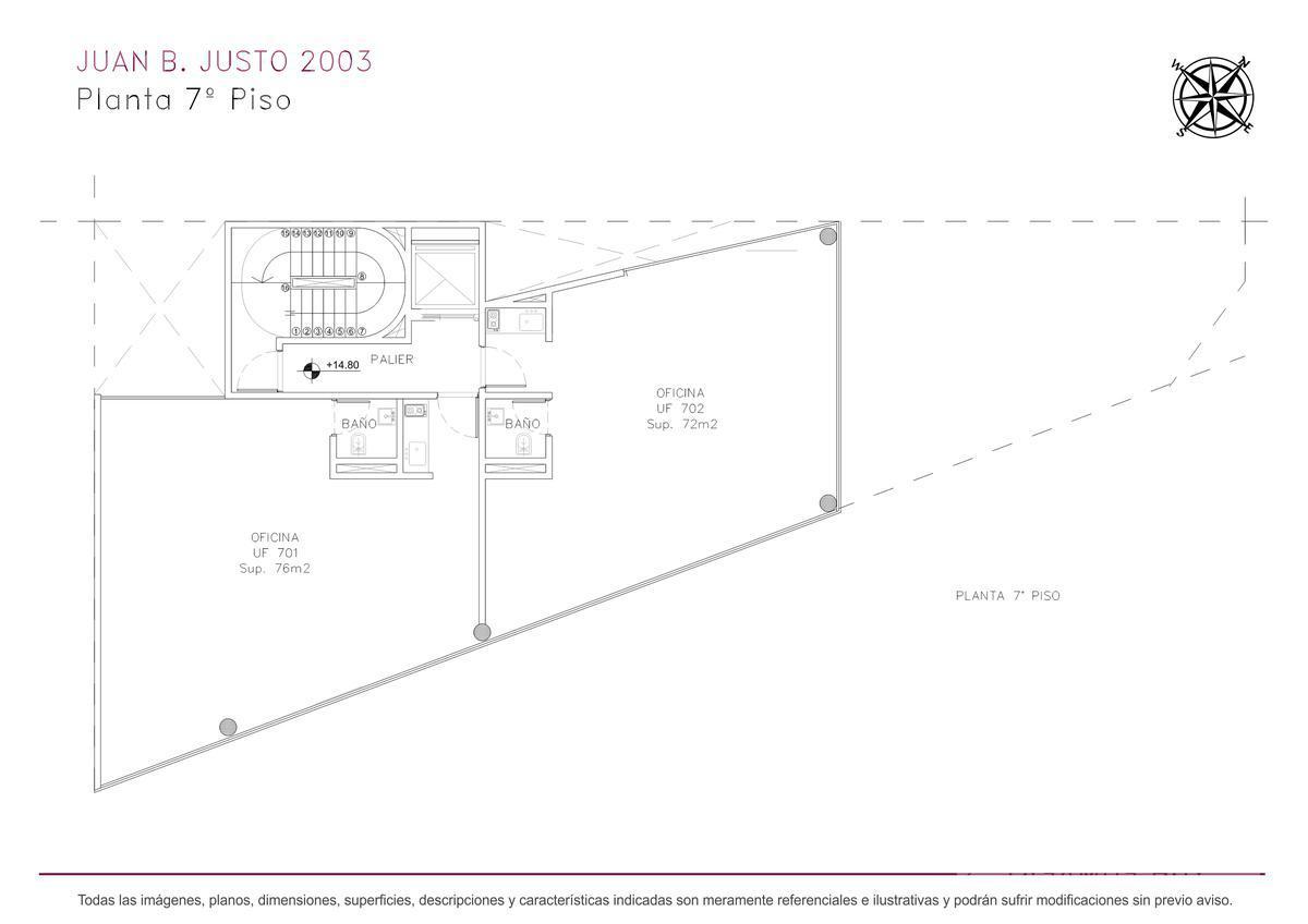 Foto Edificio de oficinas en Villa Crespo Juan B. Justo y Castillo numero 15