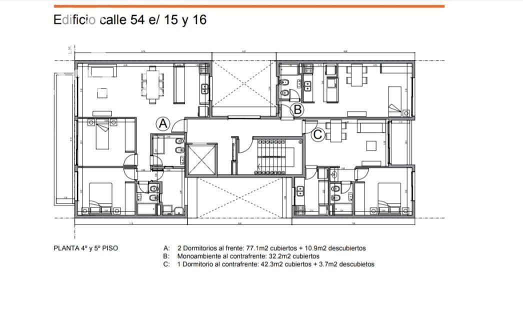 Foto Edificio en La Plata CALLE 54 ENTRE 15 Y 16 número 28