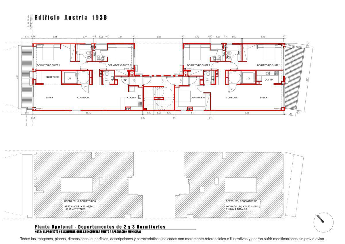 Foto Edificio en Barrio Norte Austria entre Juncal y Beruti numero 14