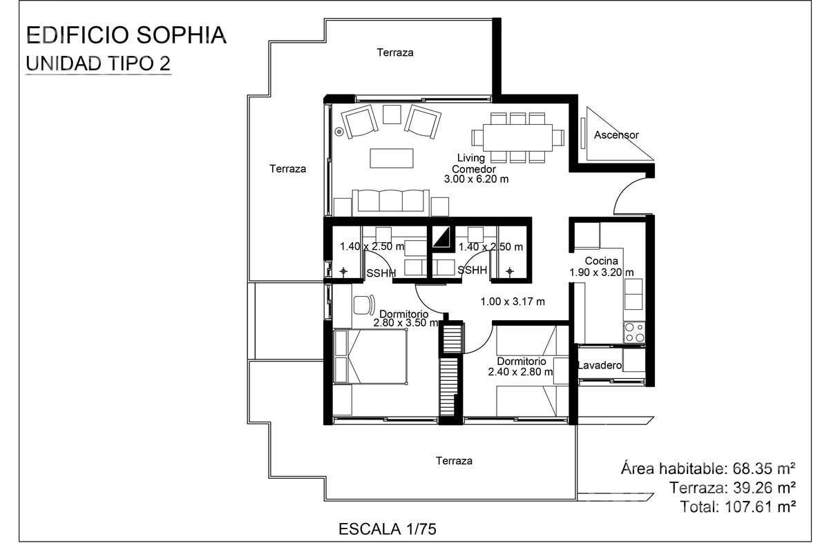 Foto Edificio en Playa Mansa Edificio Sophia Playa Mansa P18 Av Jose Terradel número 11