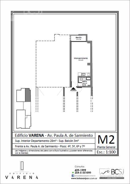 Foto Edificio en Capital Edificio Varena - P. A. de Sarmiento antes de Av. Ignacio de la Roza número 13