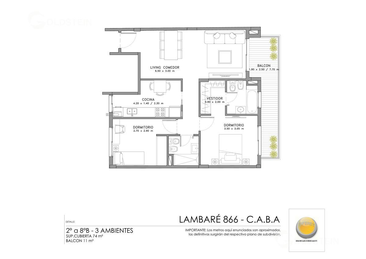 Foto Edificio en Almagro Lambaré 800 número 12